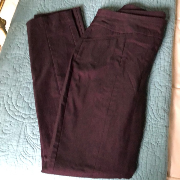 Chico's Denim - Chico's slimming stretch jeans in a deep plum.